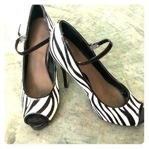 Steve Madden Zebra Print Heel